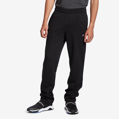Champion Men's Powerblend Sweats Open Bottom Pants