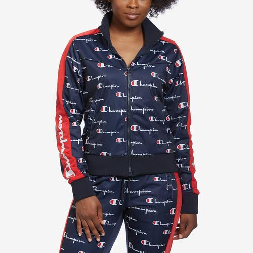 Champion Women's Tricot Track Jacket, All Over Print