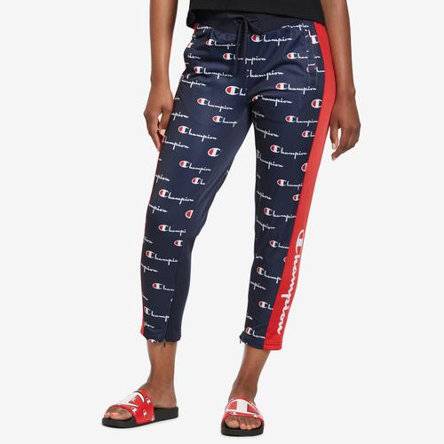 Champion Women's Tricot Slim Track Pant, All Over Print