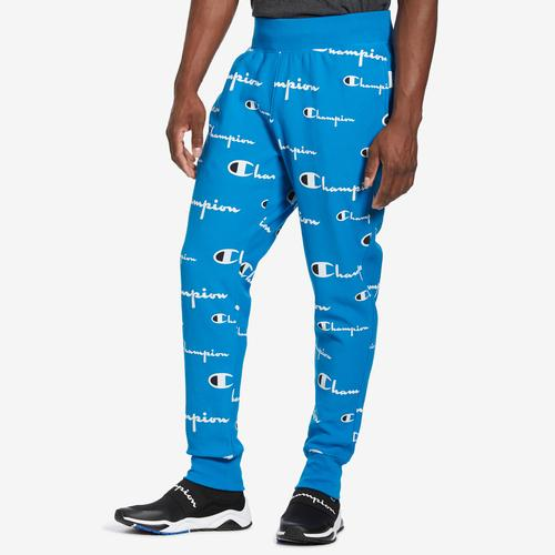Champion Men's Life Reverse Weave Joggers, All Over Logo