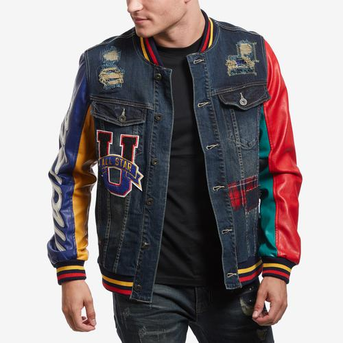 Smoke Rise Varsity Denim Jacket
