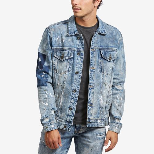 Smoke Rise Denim Jacket With Fleece Collar