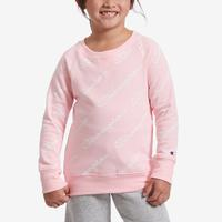 Champion Girl's Preschool Crew Fleece, All Over Script Log