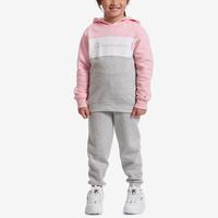 Champion Girl's Preschool Colorblocked Hoodie, Script Logo