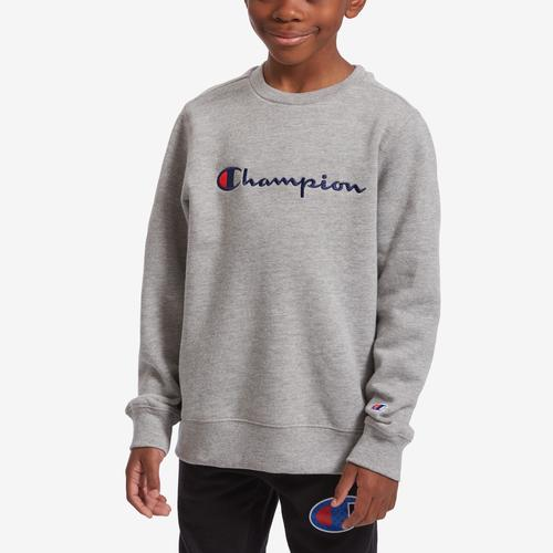 Champion Boy's Preschool Fleece Sweatshirt, Script Logo