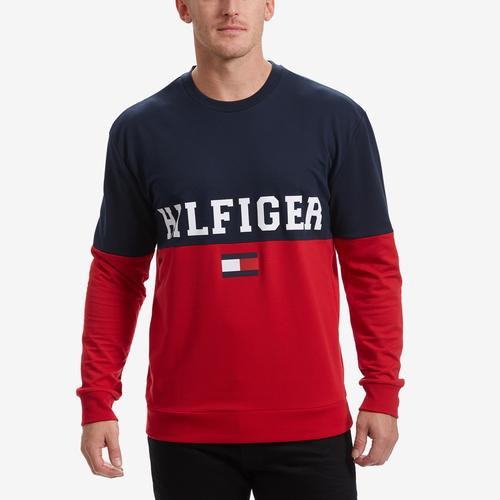 Tommy Hilfiger Men's Modern French Terry Logo Crew