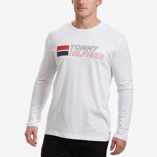 Tommy Hilfiger Men's Block Logo Long Sleeve Tee