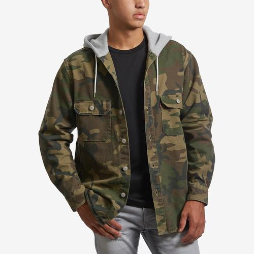 Levis Men's Camo Hooded Jackson Overshirt