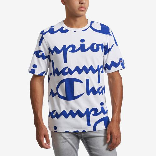 Champion Men's Life Tee, All-Over Script Logo