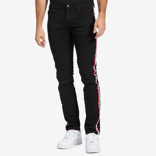 Kilogram Men's Stripe Biker Jean