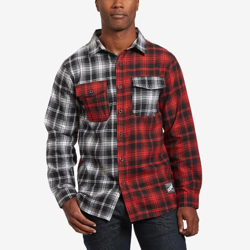 Smoke Rise Men's Plaid Patch Flannel Shirt