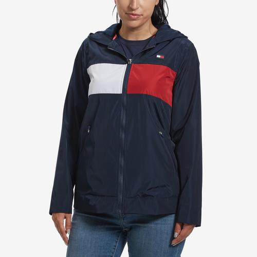 Tommy Hilfiger Women's Hooded Flag Windbreaker