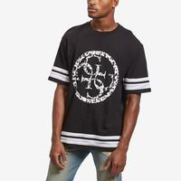 Guess Men's Circular Logo Football T-Shirt