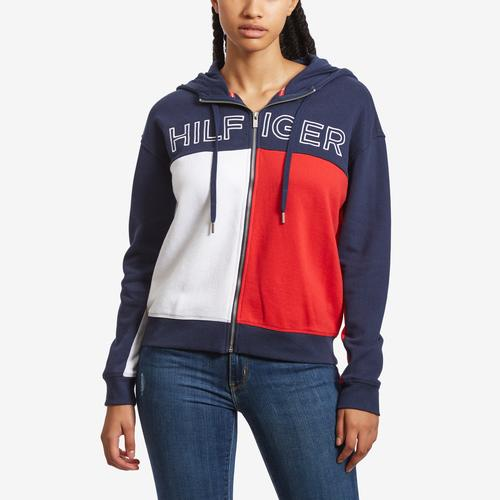 Tommy Hilfiger Sport Colorblock Zip Up Hoodie