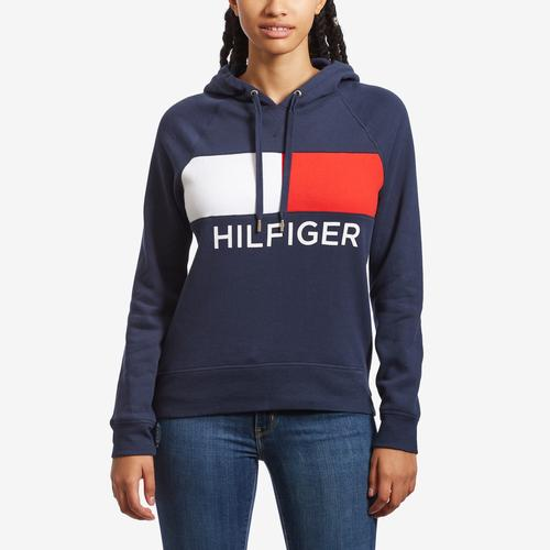 Tommy Hilfiger Activewear Hi-Low Hem Flag Block Hoodie