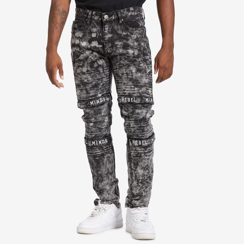 REBEL MINDS Men's Multi Strap Jean