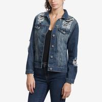 Highway Jeans Women's Distressed Denim Jacket