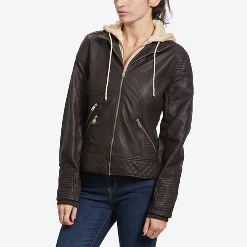 YMI Women's Faux Leather Jacket