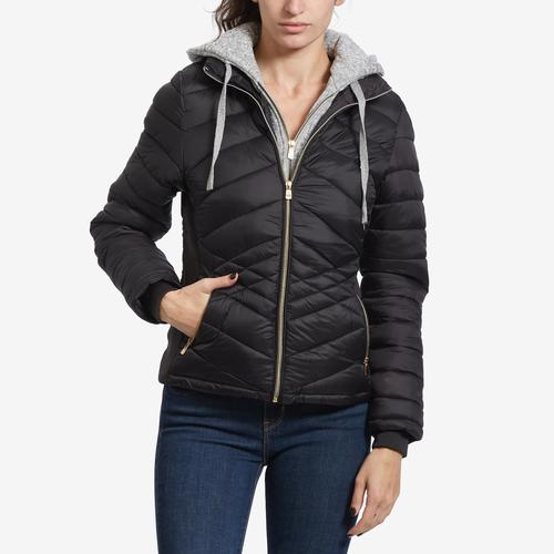 YMI Women's Puffer Jacket With Hood