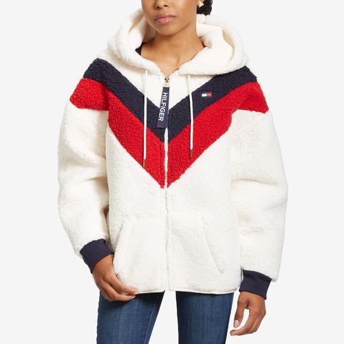 Tommy Hilfiger Women's Sport Faux Sherpa Colorblock Jacket