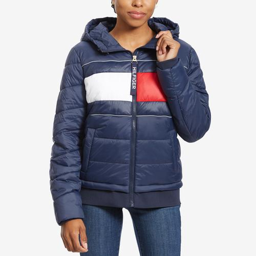 Tommy Hilfiger Women's Sport Quilted Colorblock Jacket