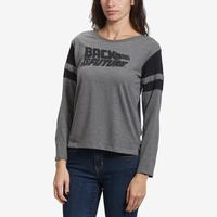 Freeze Women's Back To The Future Stripe Sleeve T-Shirt