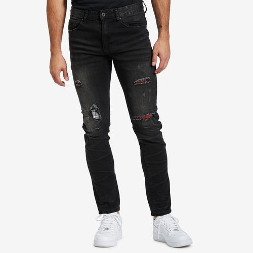 Smoke Rise Ripped Jean With Flannel Repair