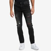 Smoke Rise Men's Ripped Jean With Flannel Repair
