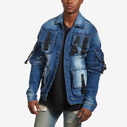 Copper Rivet Men's 3D Pocket Denim Jacket