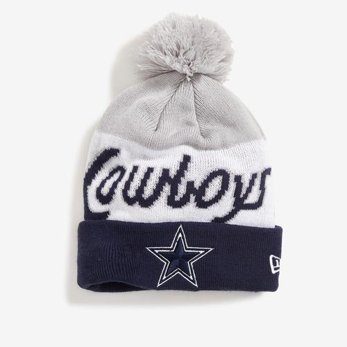 New Era Cowboys Knit Script Hat