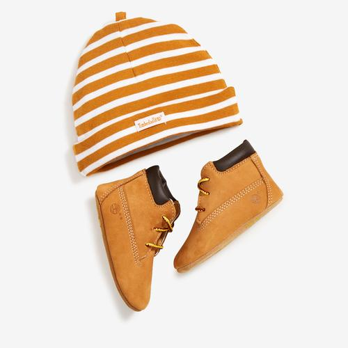 Timberland Infant Crib Booties/Cap Set