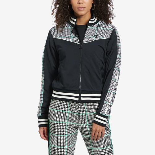 Champion Women's Life Houndstooth Tricot Track Jacket