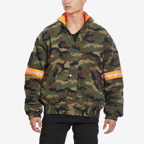 Guess Men's Carter Reflective Camo Bomber Jacket