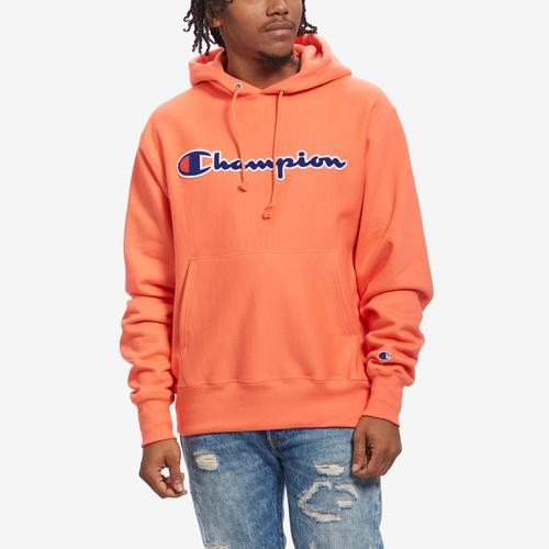 Champion Men's Life Reverse Weave Chenille Logo Pullover Hoodie