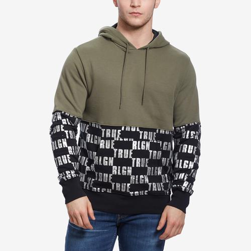 True Religion Men's Logo Panel Hoodie