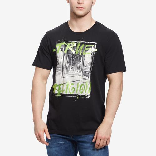 True Religion Men's Metallic Digital Shine T-Shirt