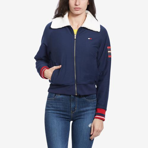 Tommy Hilfiger Women's Essential Reversible Sherpa Bomber Jacket