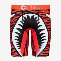 ETHIKA Men's War Plane Orange Boxer Brief