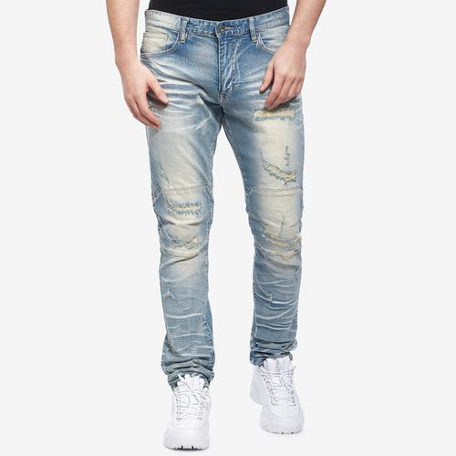 Smoke Rise Men's Slim Tapered Distressed Jean