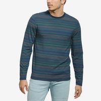 Guess Men's Saturday Striped Long-Sleeve Tee