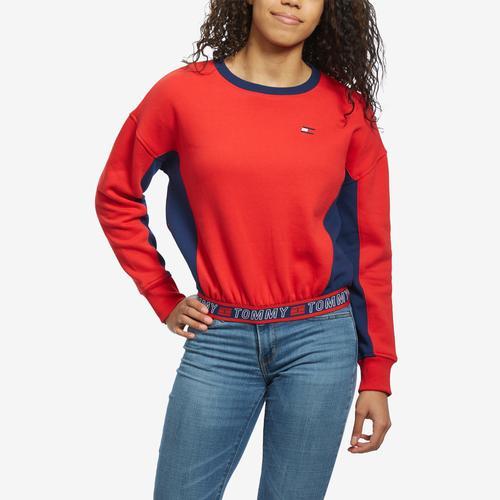 Tommy Hilfiger Cropped Crew Panel Sweatshirt