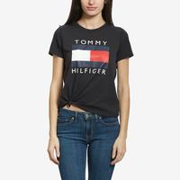 Tommy Hilfiger Women's Logo Knot Front Tee