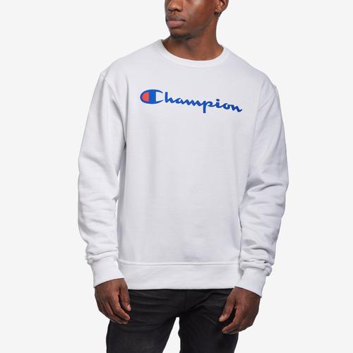 Champion Men's Powerblend Fleece Crew, Script Logo