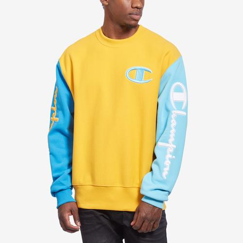 Champion Men's Reverse Weave Colorblock Crew Sweatshirt