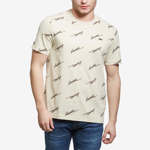 Lacoste Men's LIVE Standard Fit Crew Neck Cotton T-Shirt