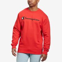 Champion Men's Powerblend Script Crew Sweatshirt