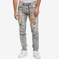 Smoke Rise Men's Jeans With Stripes