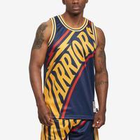 Mitchell + Ness Men's Big Face Jersey Golden State Warriors