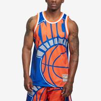 Mitchell + Ness Men's Big Face Jersey New York Knicks