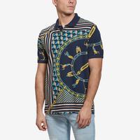 Lacoste Men's Live Scarf-Print Cotton Piqué Polo Shirt